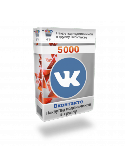 Накрутка 5000 подписчиков Вконтакте в группу