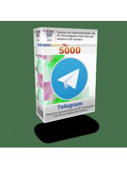 Накрутка 5000 просмотров Телеграм на 20 последних постов на закрытый канал