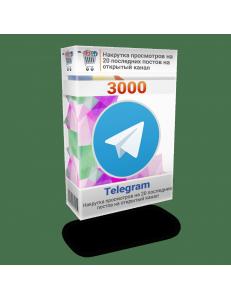 Фото Накрутка 3000 просмотров Телеграм на 20 последних постов на открытый канал