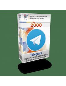 Фото Накрутка 2000 подписчиков Телеграм на закрытый канал
