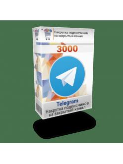 Накрутка 3000 подписчиков Телеграм на закрытый канал